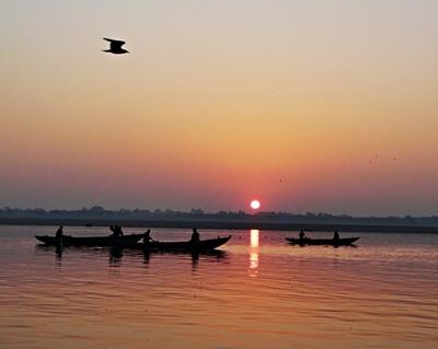 Ganges mit Sonnenaufgang