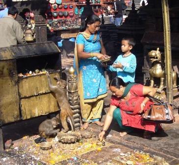 Menschen in Kathmandu