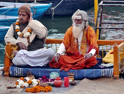 Pilger am Ganges
