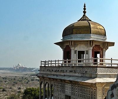 Taj Mahal von weiten