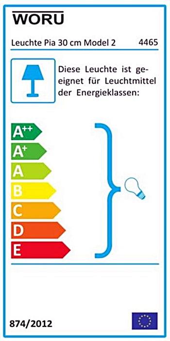 Energielabel-Leuchte Pia, oval