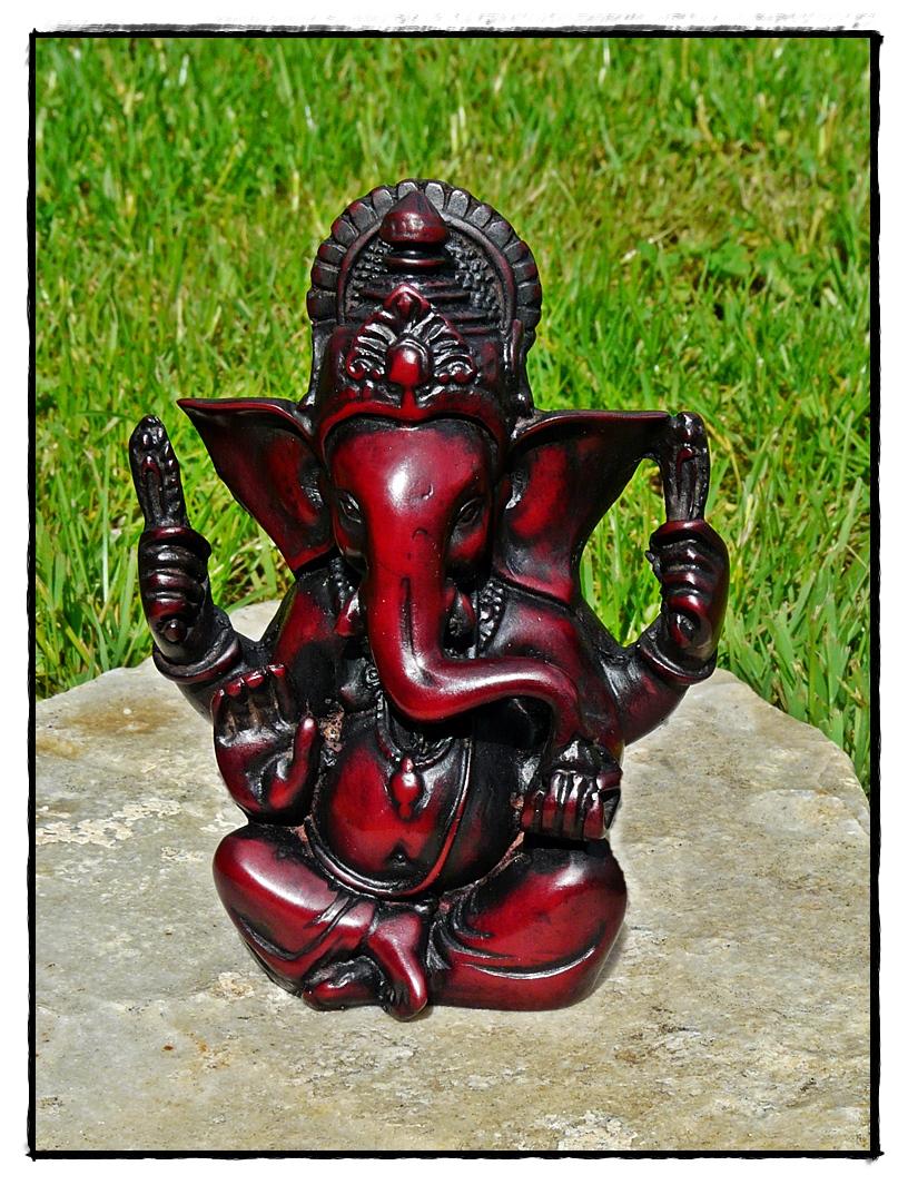 Ganesha Figur aus Kunstharz