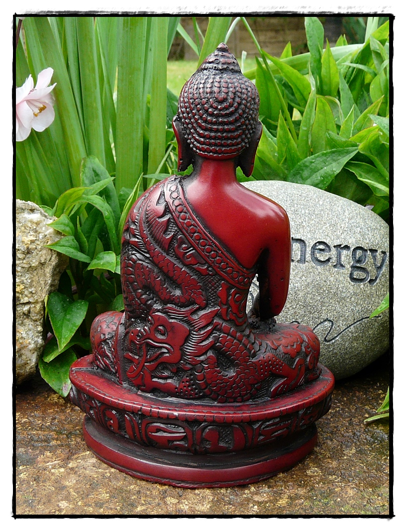 Gautam Buddha Statue Rückseite