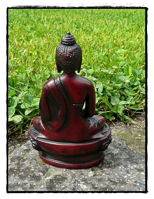 Kleine Shakyamuni Buddha Statue Rückseite