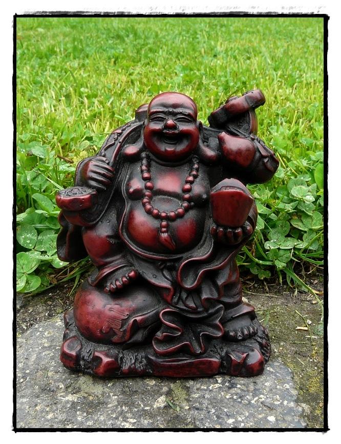 Resinstatue lachender Buddha Statue