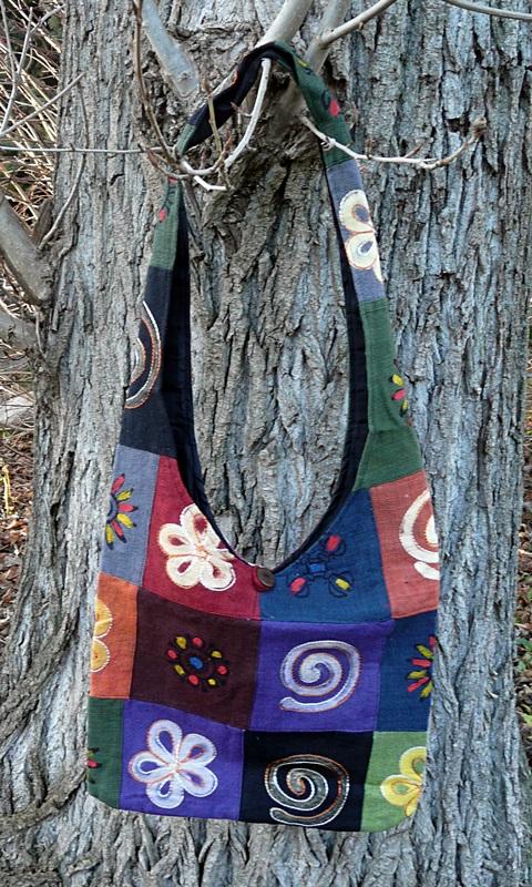 Pilgrims Shoulder Bag, Schultertasche aus Nepal