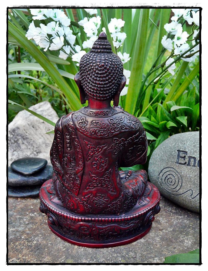 Shakyamuni-Buddha Statue Rückseite