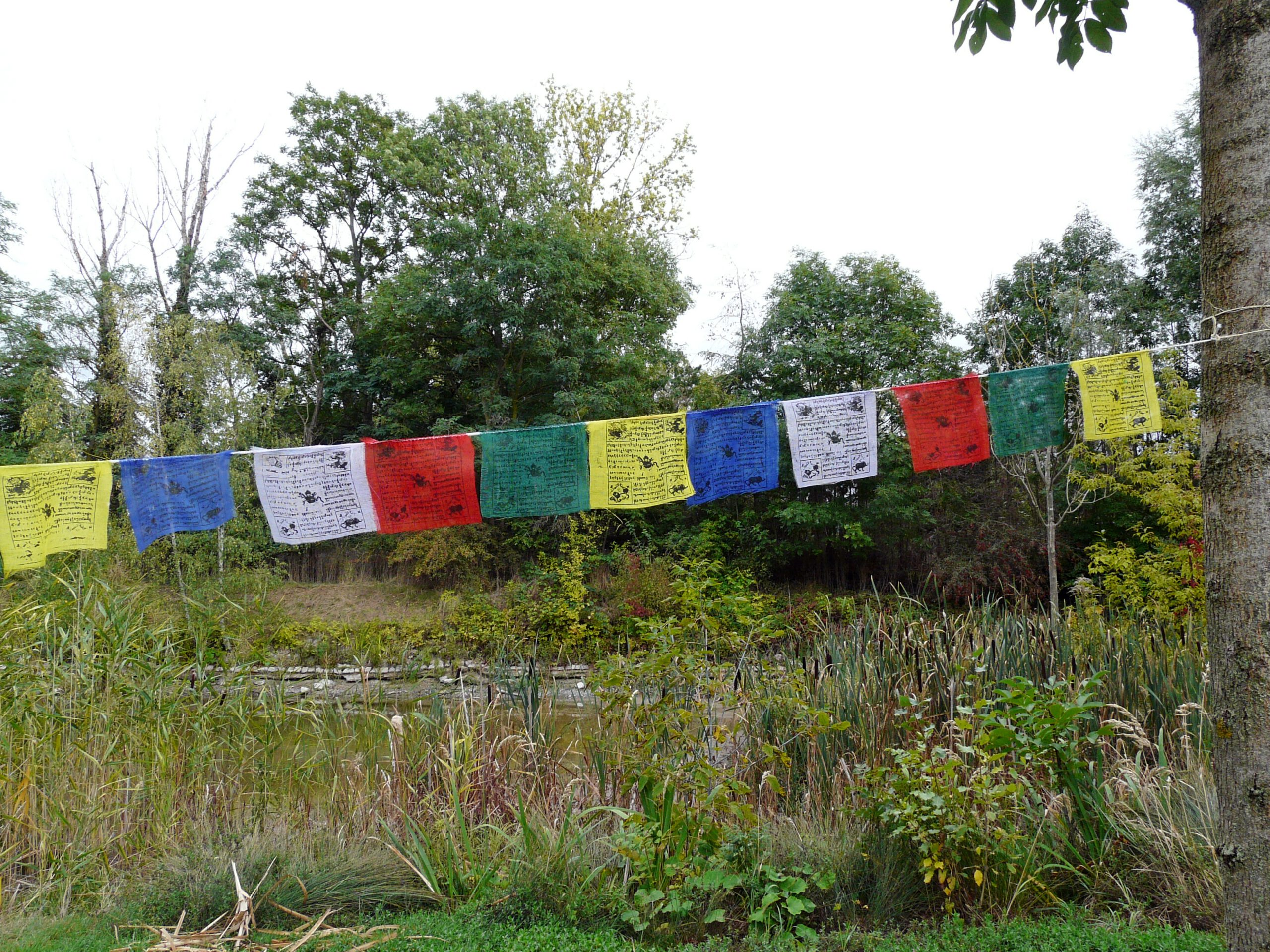 traditionelle tibetische Gebetsfahnen
