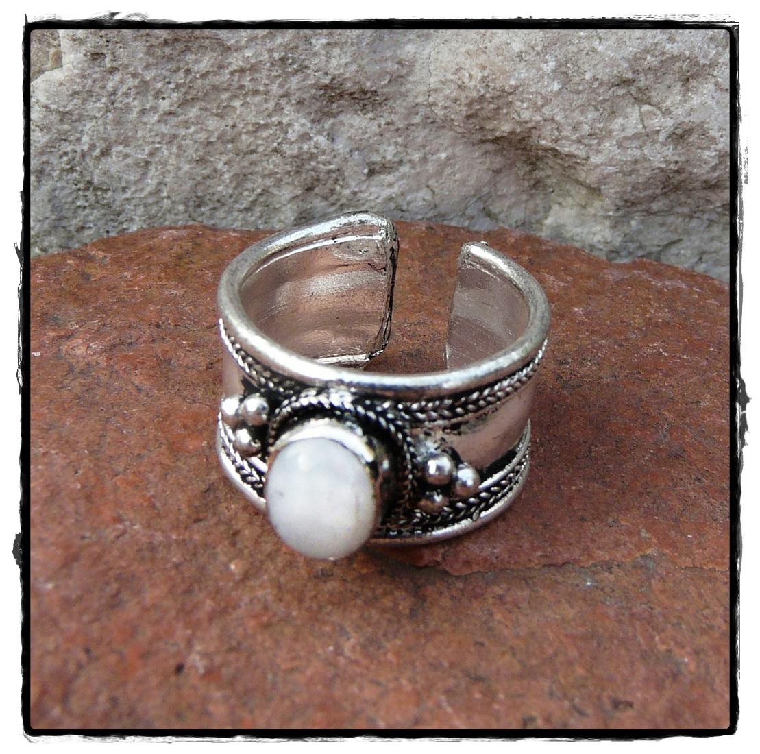 Ring verstellbar mit Mondstein