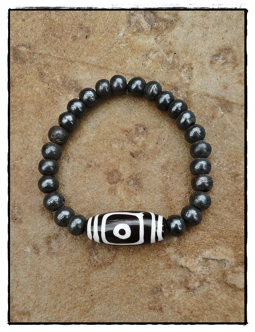 Mala Armband mit DZI-Perle aus Horn