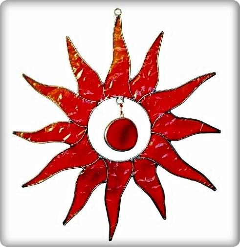 Suncatcher Sonne rot