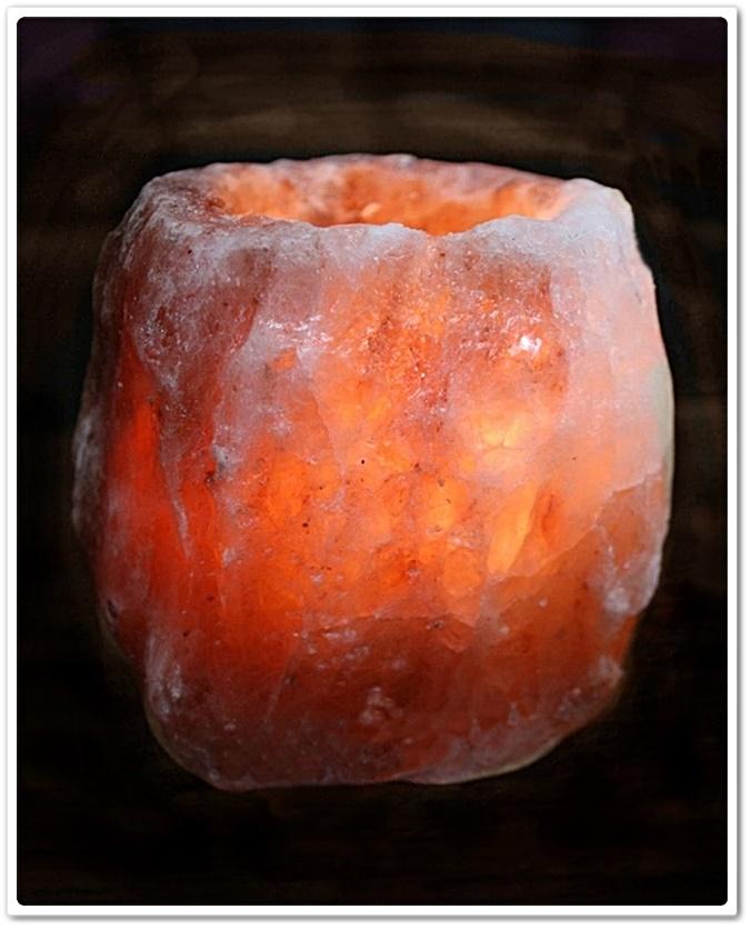 Teelichthalter Salzkristall