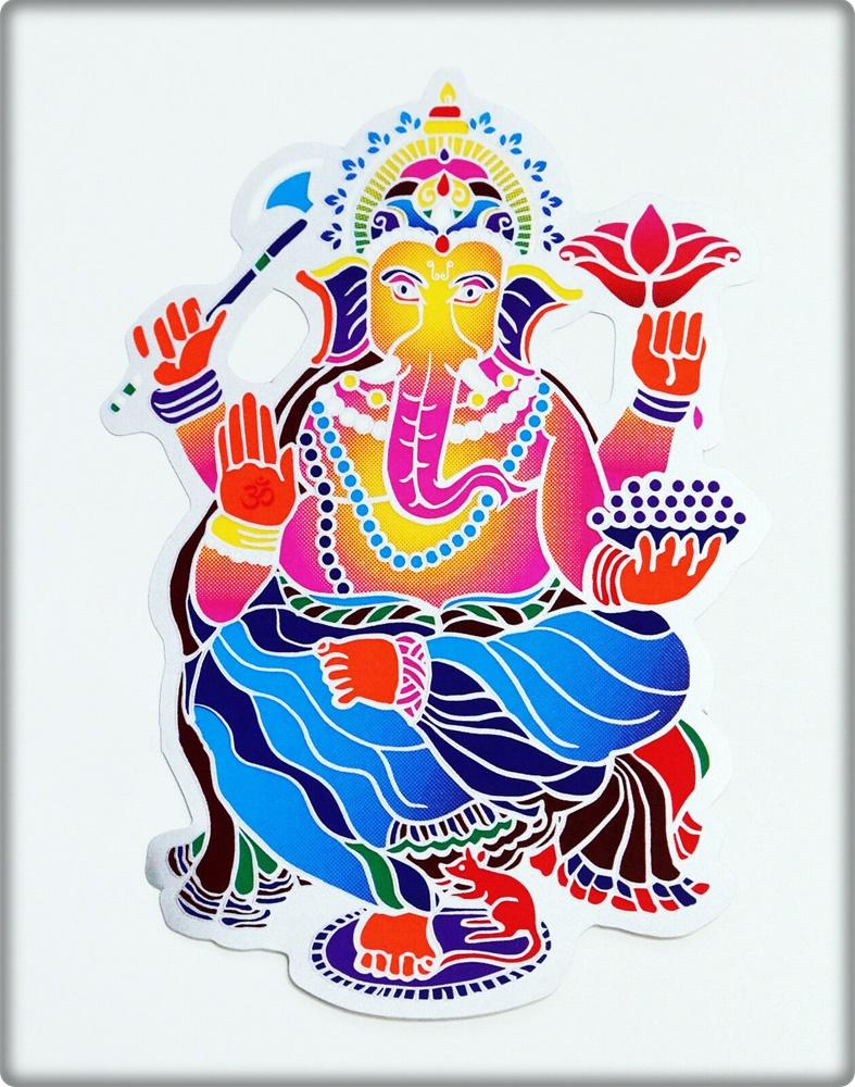 Fensterbild Ganesha