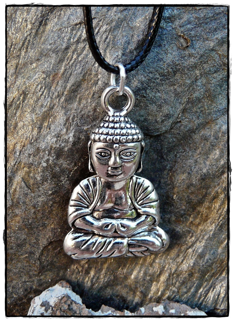 Buddha-Anhänger, silberfarben