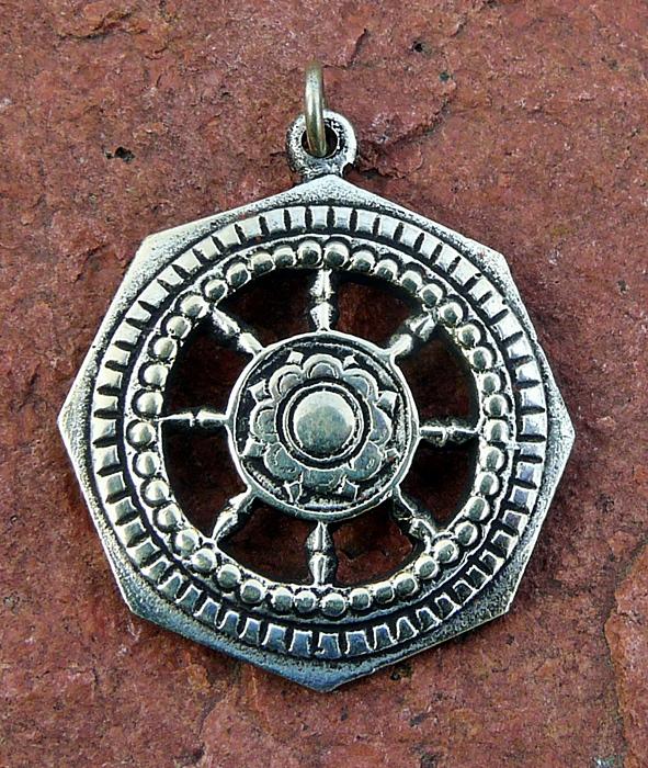 Tibetischer Anhänger Dharma-Rad