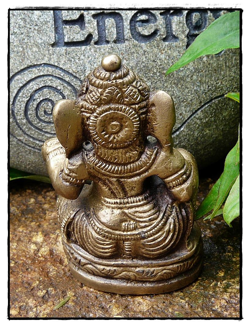 Mini Ganesha aus Messing_Rückseite