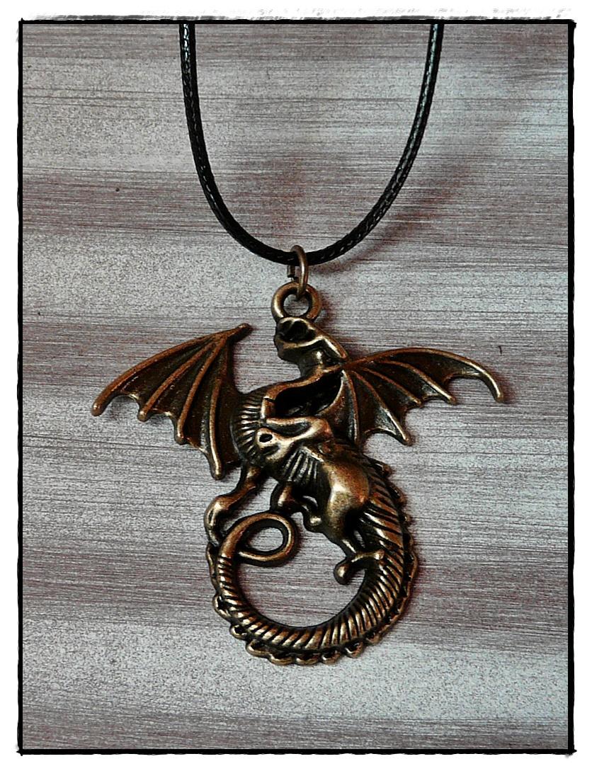 Symbolanhänger Drachen, bronzefarben