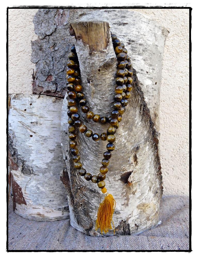 Mala aus Tigerauge mit 108 Perlen