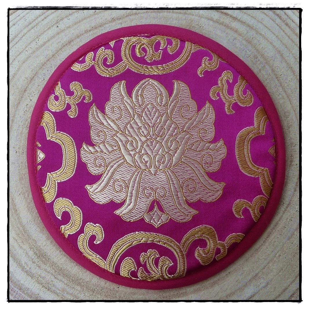 Klangschalen-Kissen mit Lotusblüte_pink
