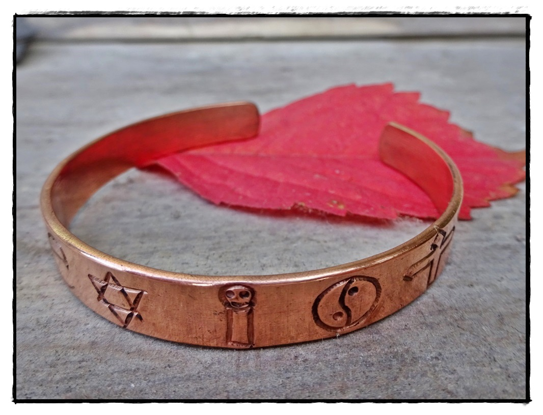 Armreif coexistence aus Kupfer, verstellbar