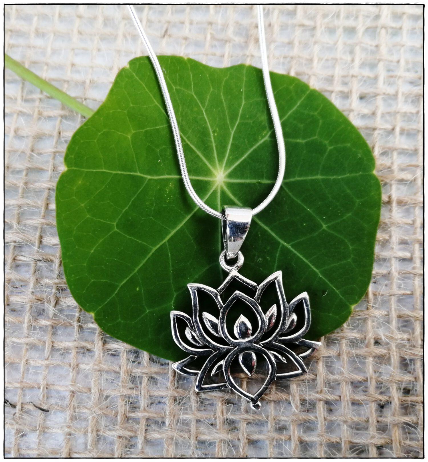 Lotuskette aus Sterlingsilber