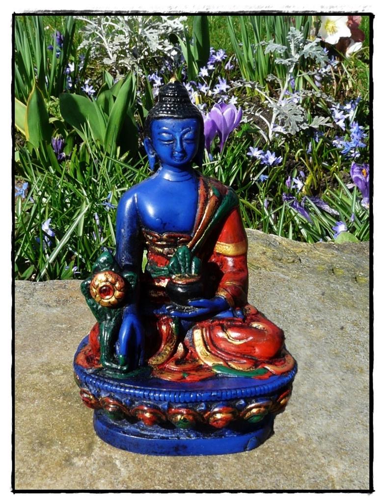 Medizin Buddha, blau