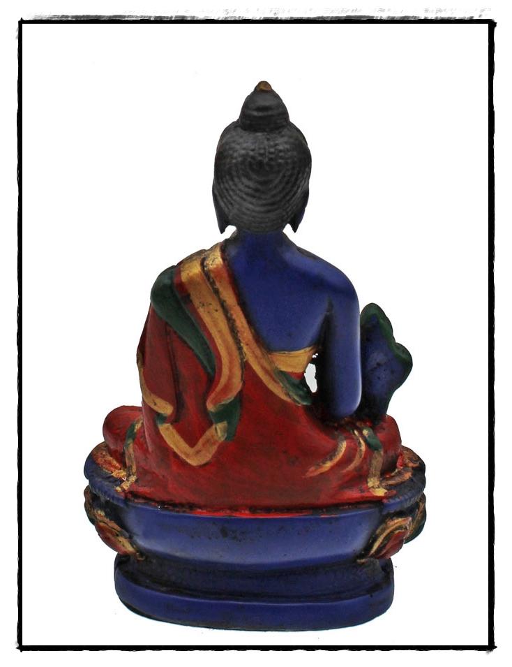 blaue Buddha Figur Rückseite