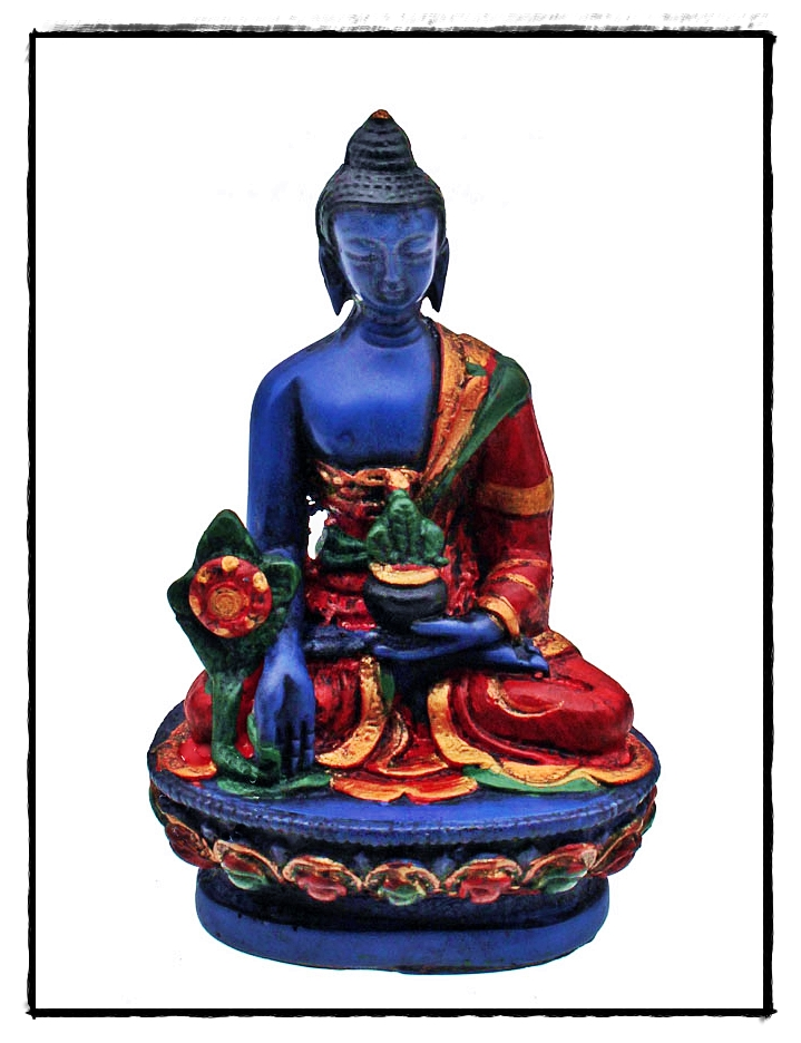 Kleine blaue Medizin Buddha Statue
