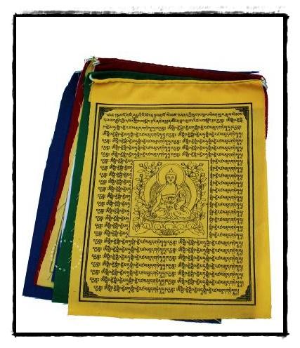 Tibetische Gebetsfahne Medizinbuddha