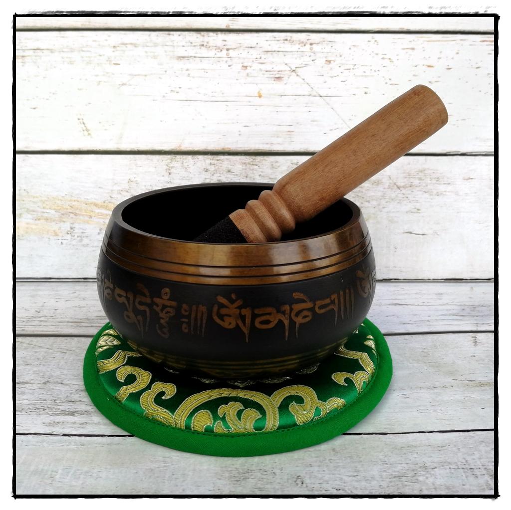 Klangschale aus Nepal mit Gravur