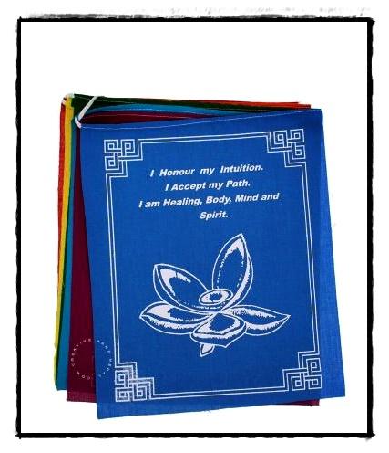 Gebetsfahne mit Lotossymbol
