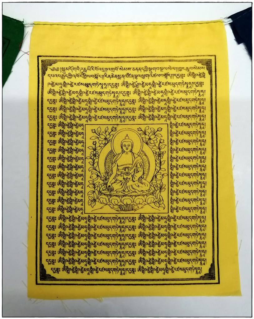 Gebetsfahne Medizinbuddha aus Nepal