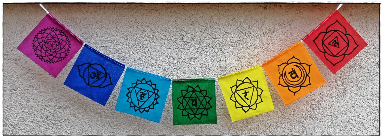 Mini Chakra-Gebetsfahne