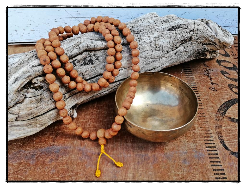 MalaKette aus Bodhi-Samen